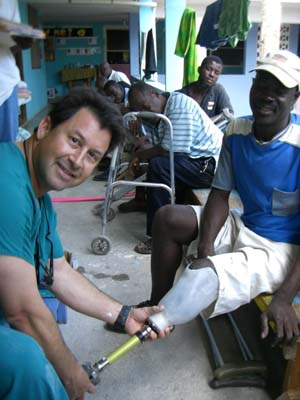 Ron Goldstein in Haiti